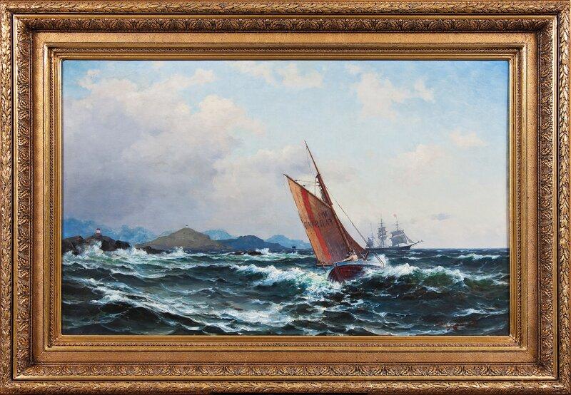 Losbåten Farsund ute på oppdrag 1890