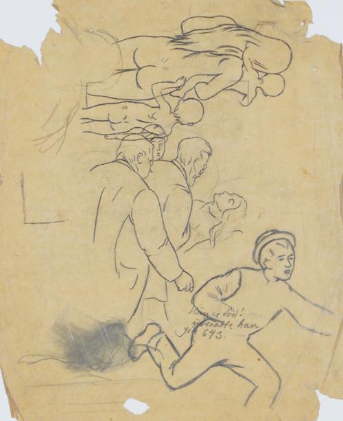Døende kvinne og Kvinneakt med to barn