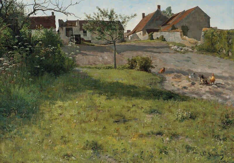 Bondegård i Grez 1881