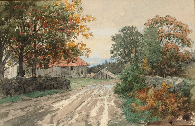 Dyre ved Moss 1892