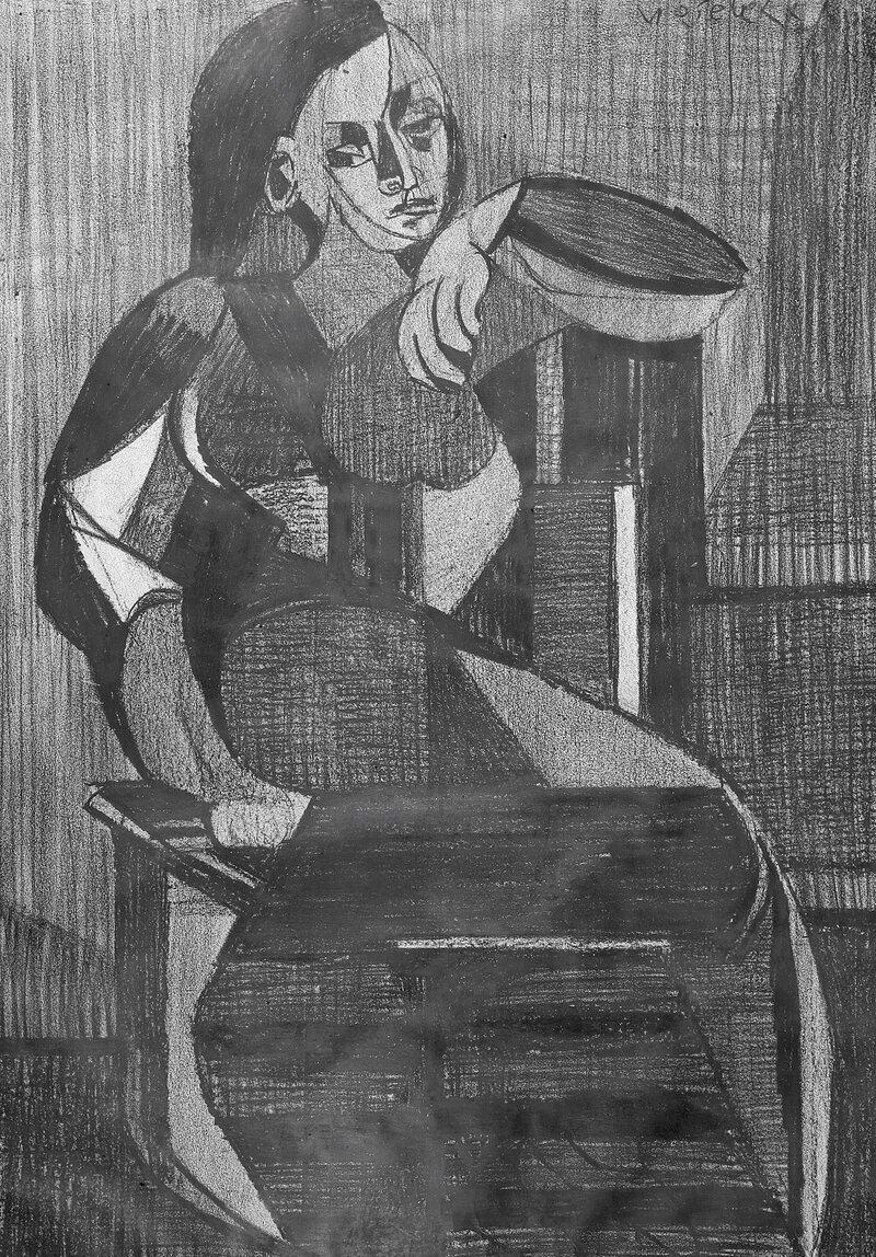 Sittende kvinne 1953
