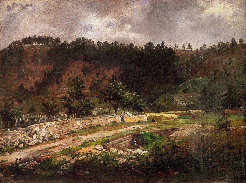 En vei i Pillnitz 1832