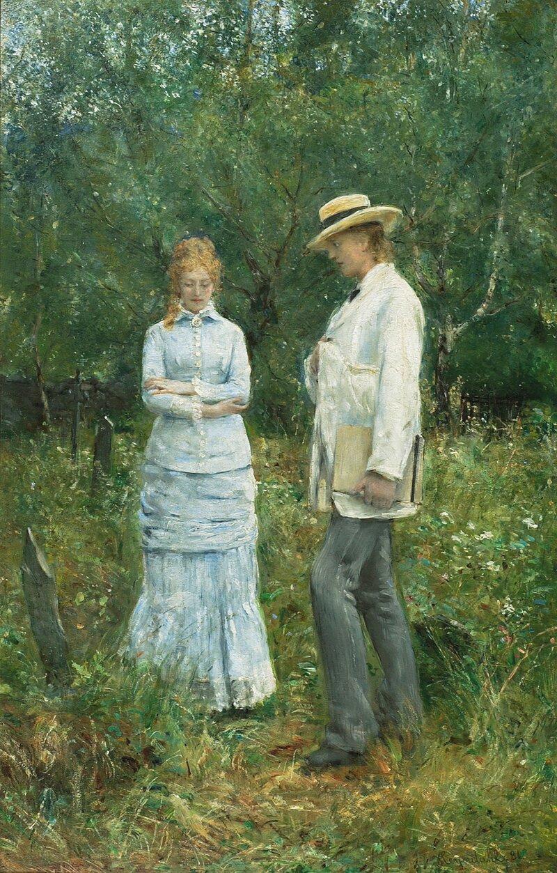Ung kvinne og mann 1881
