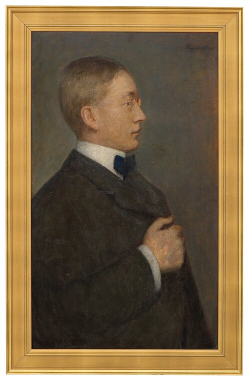 Portrett av forfatteren Johannes V. Jensen 1908
