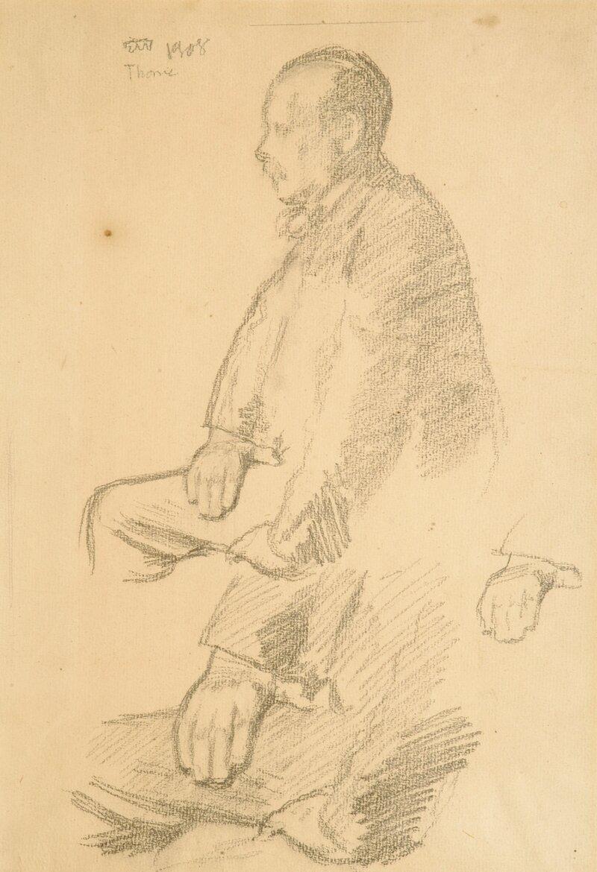 Portrett av maleren Oluf Wold Thorne 1908