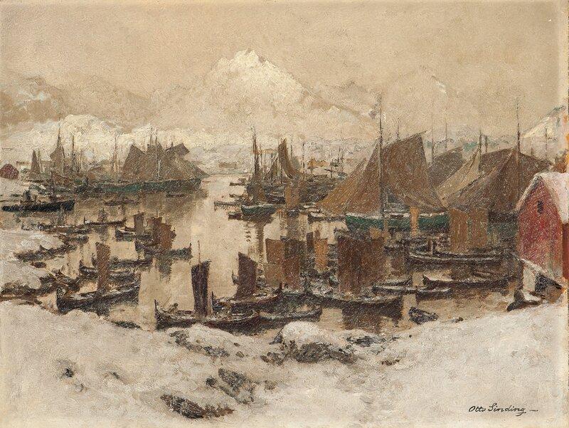 Fiskehavn i Lofoten