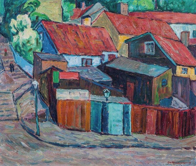 Røde tak, fra Hammersborg 1913