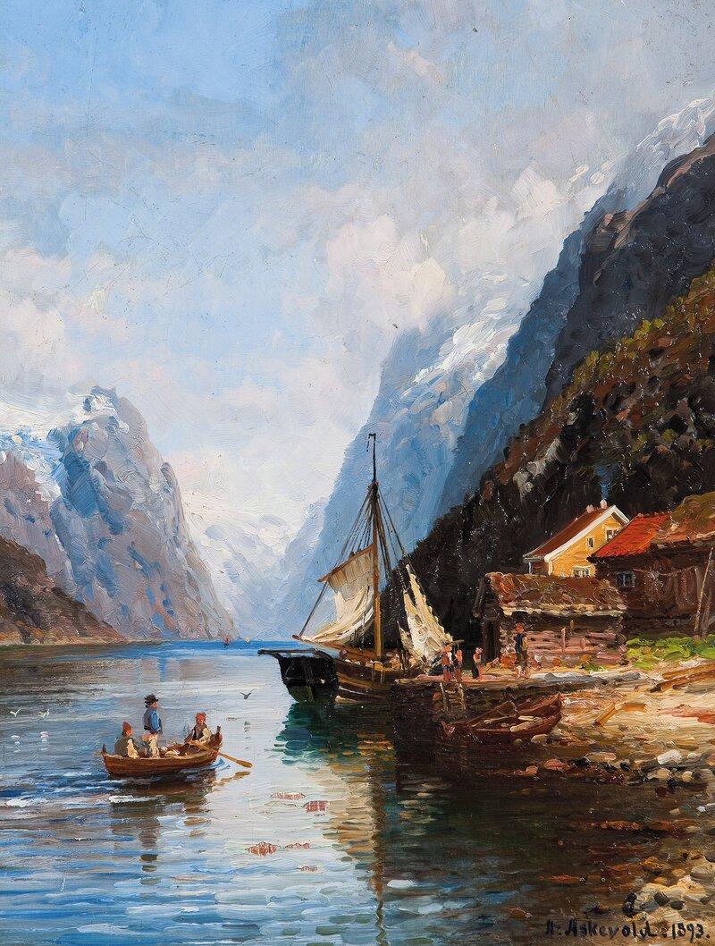 Sognejekt ved brygge, Sognefjorden
