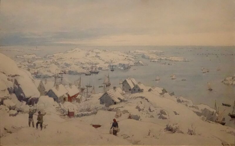 Vinter i Loshavn ved Farsund 1881