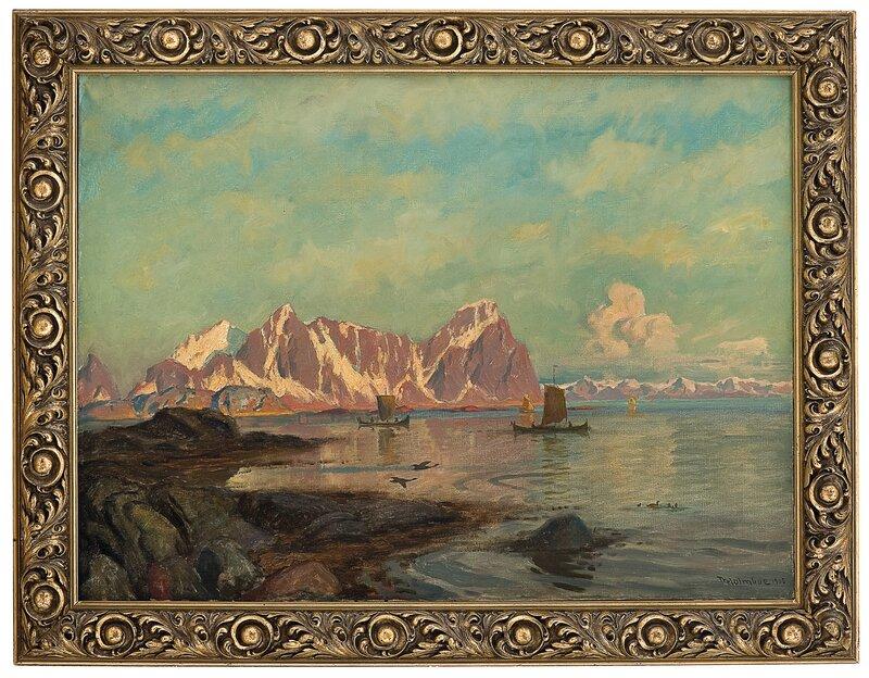Kystlandskap fra Nordland 1905