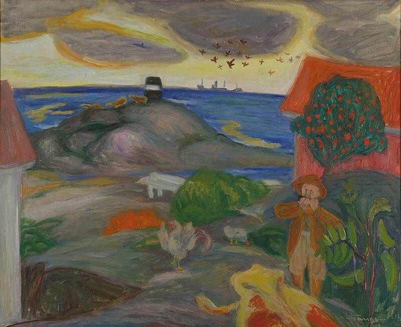 Bondegård i havgapet 1944