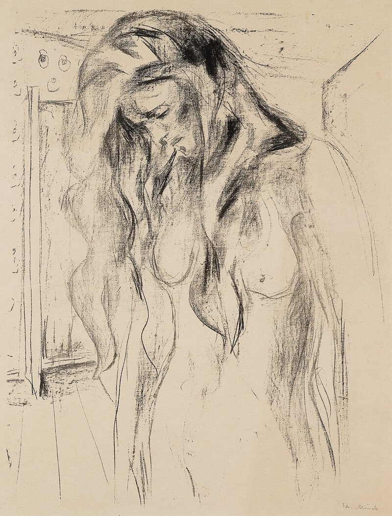Young Woman Weeping