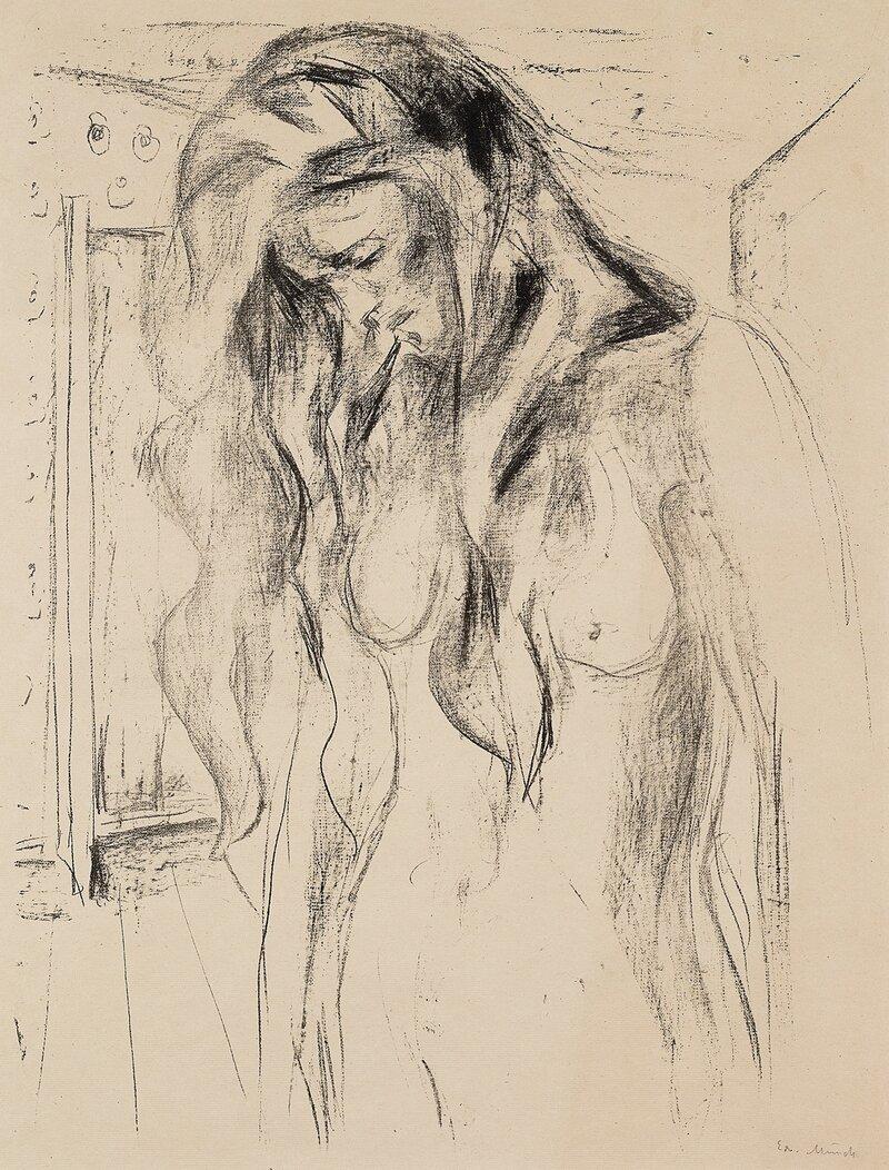 Gråtende ung kvinne