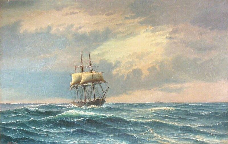 Skute i rom sjø 1917