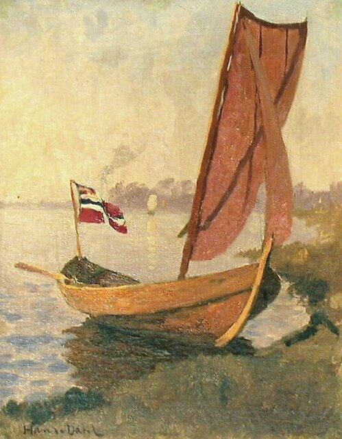 Båt ved strand