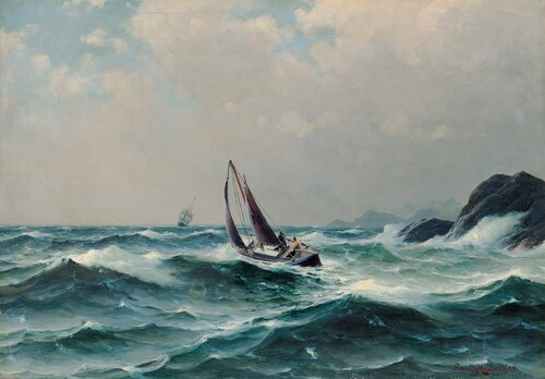 Losbåten går ut 1899