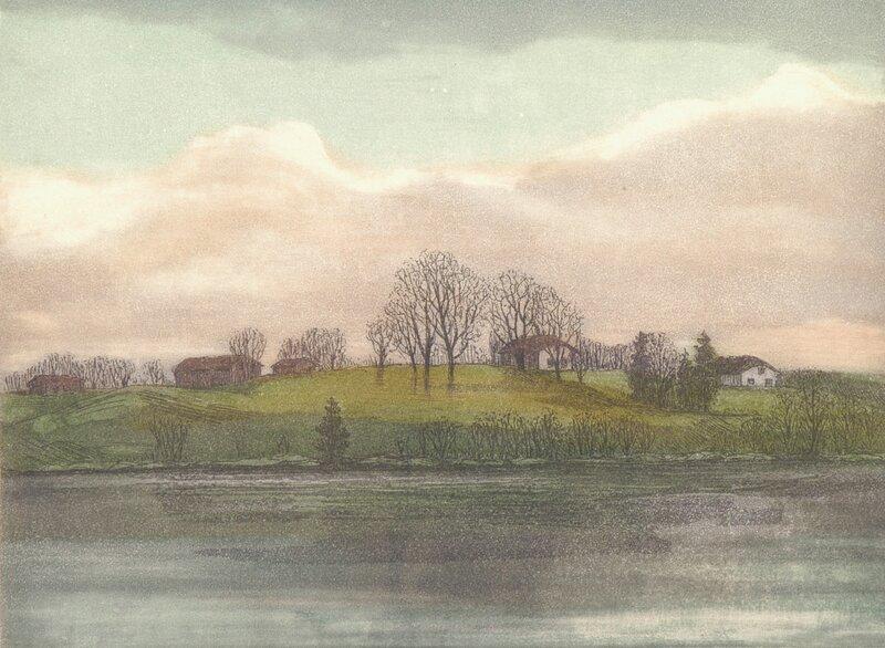 Landskap med gård 1982