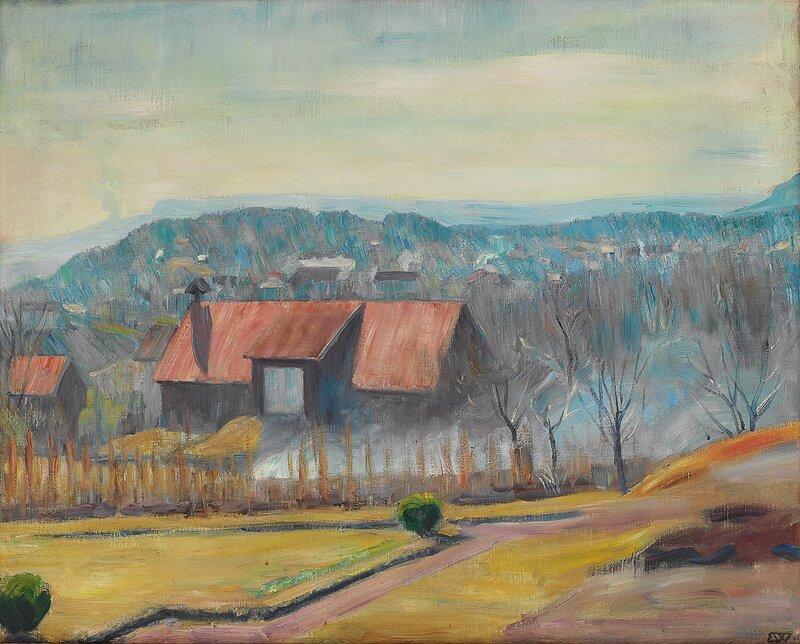 Utsikt mot Skaugumåsen 1928