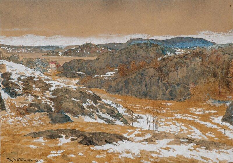 Vårløsning, fra Skåtøy 1890