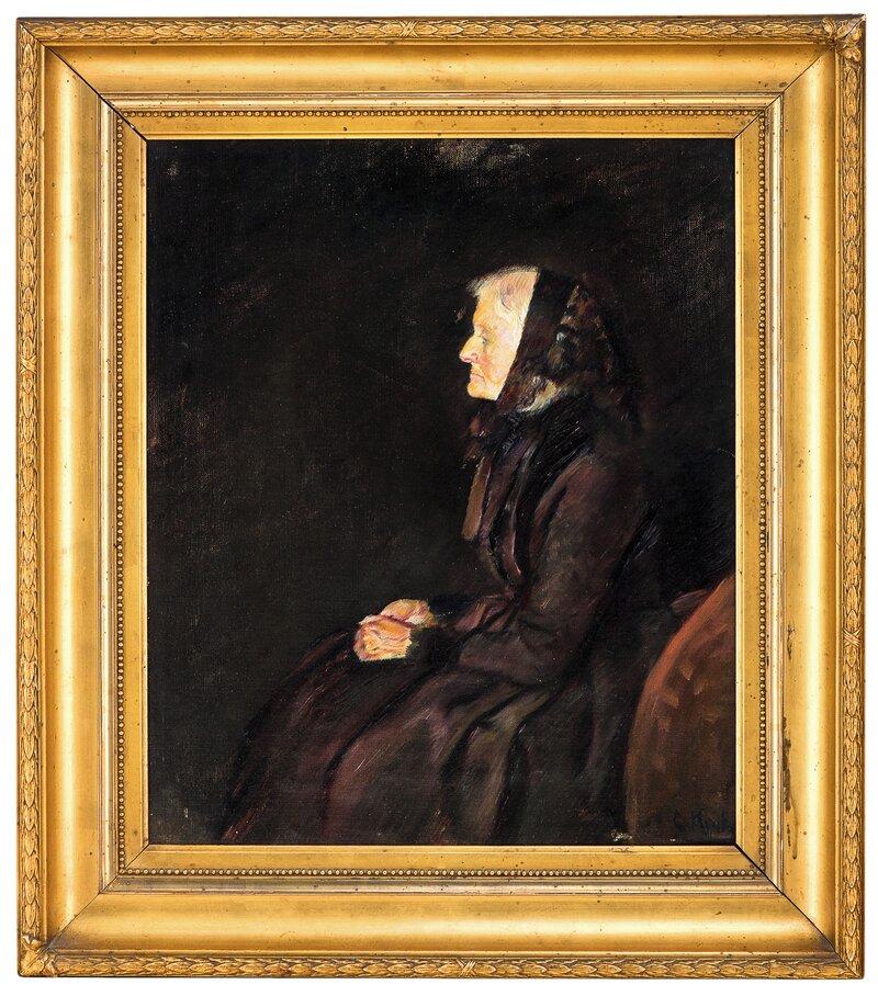 Marie Krohg i profil