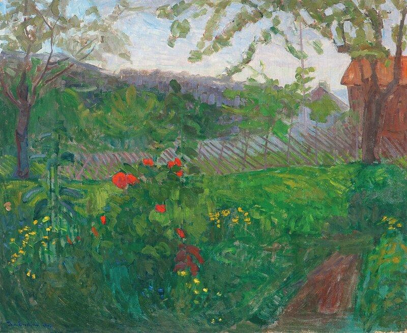 Hage med blomster 1903