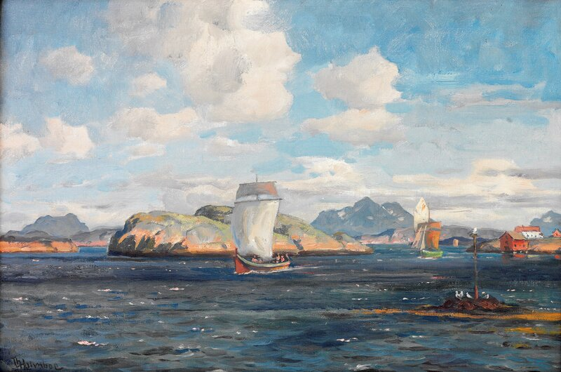 Kystlandskap med Nordlands-skjekte