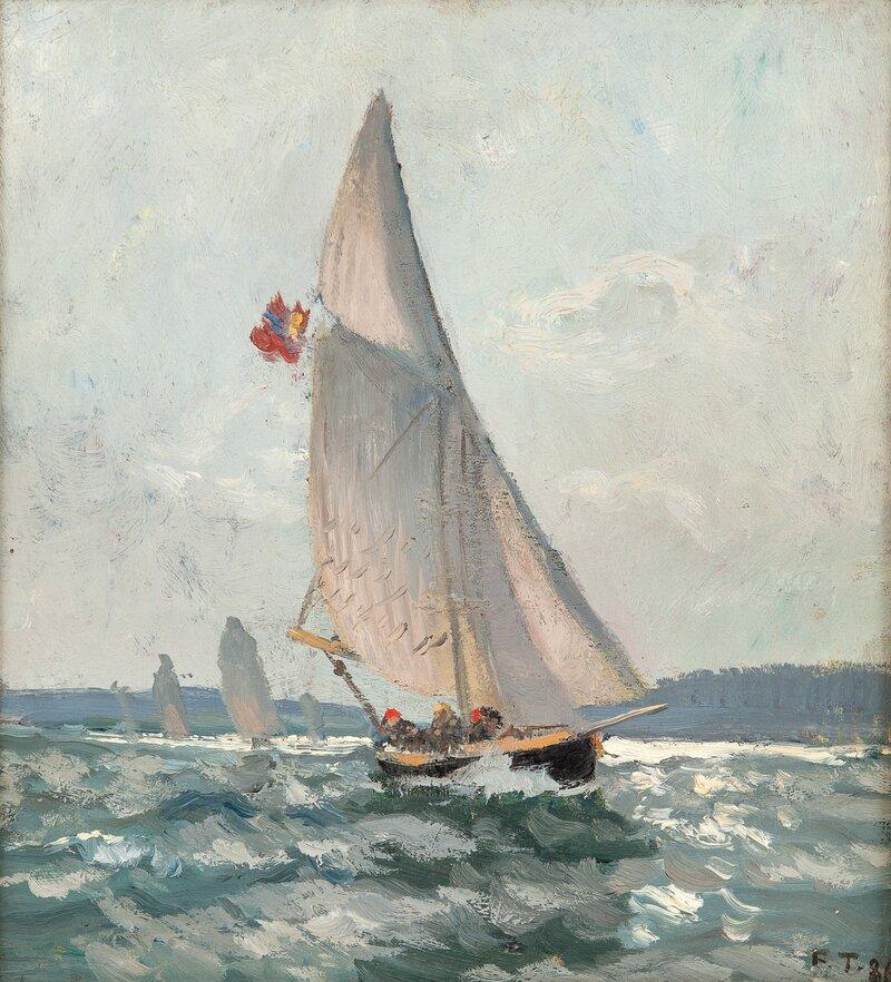 Seilbåter i frisk bris 1886