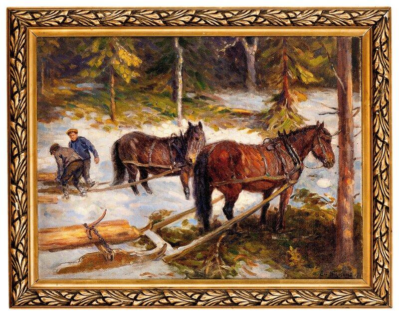 Tømmerkjøring 1917