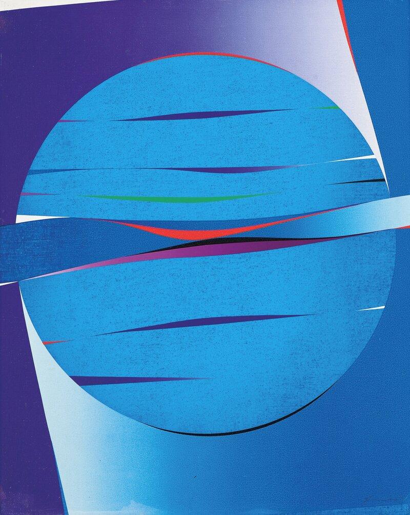 Komposisjon med blå sirkel
