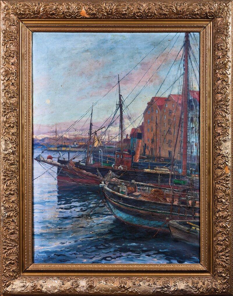 Stavanger havn sett fra Grand Hotel