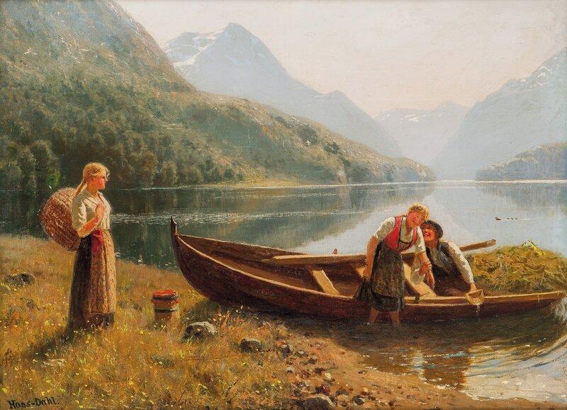 Folkeliv i fjordlandskap