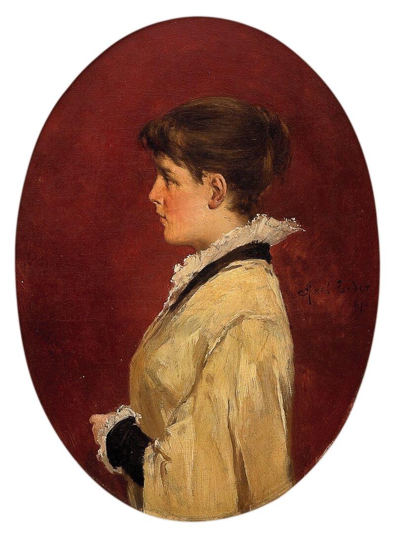 Ung kvinne 1881