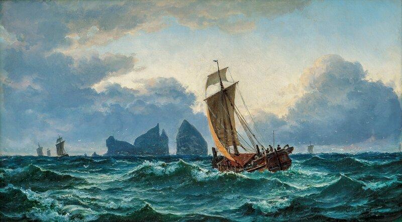 Sailboats at Træna 1881