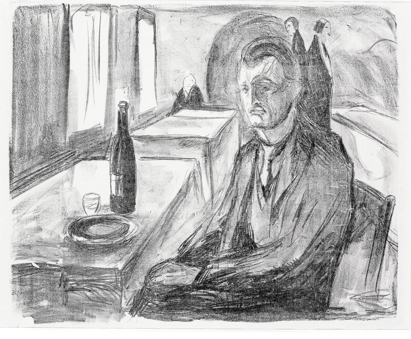 Self Portrait with a Bottle of Wine