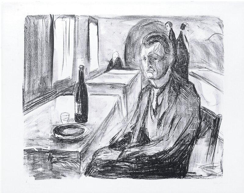 Selvportrett ved vinen