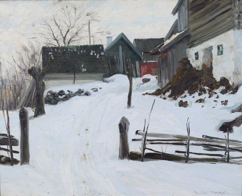 Gårdstun, vinter