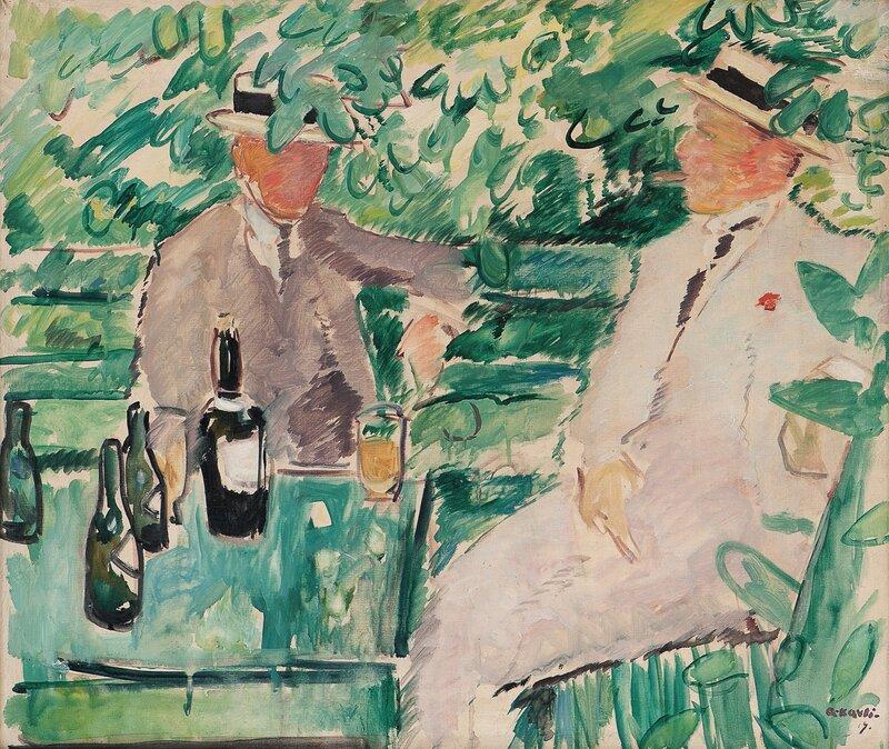 To menn i en hage 1919