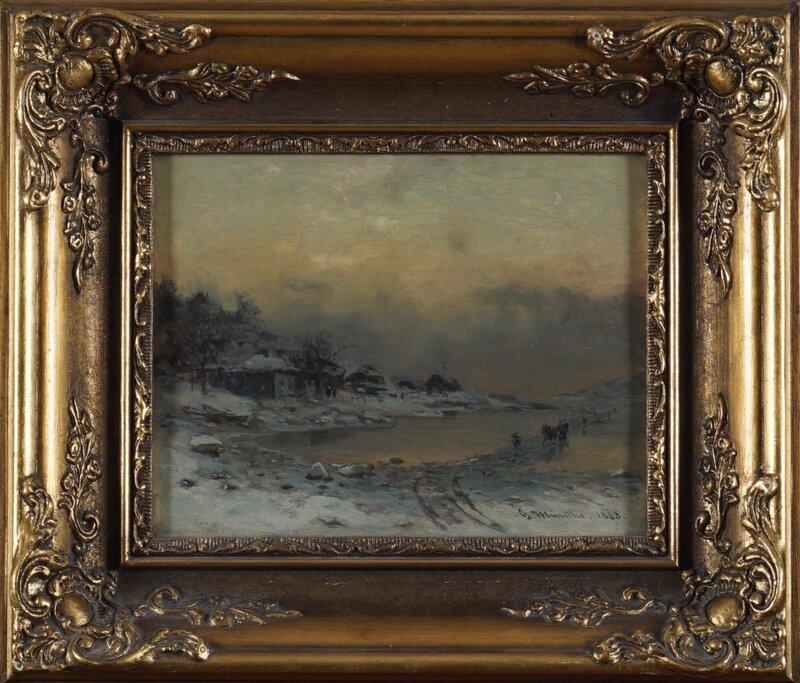 Kjøring på isen 1883