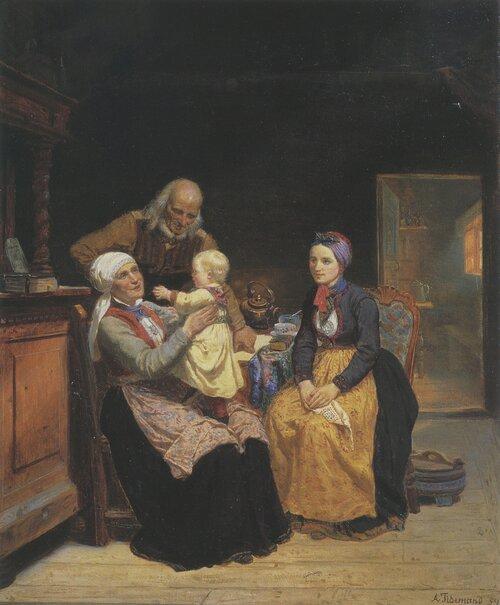 Besøk hos besteforeldrene 1859