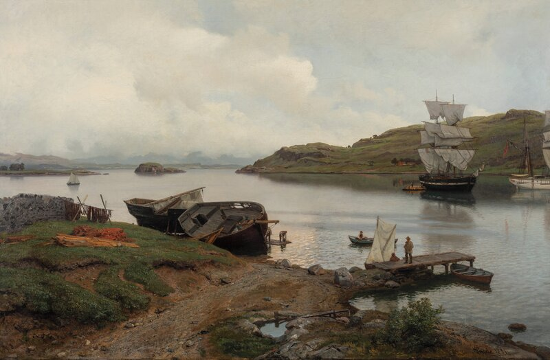 Kystmiljø i norsk fjord 1881