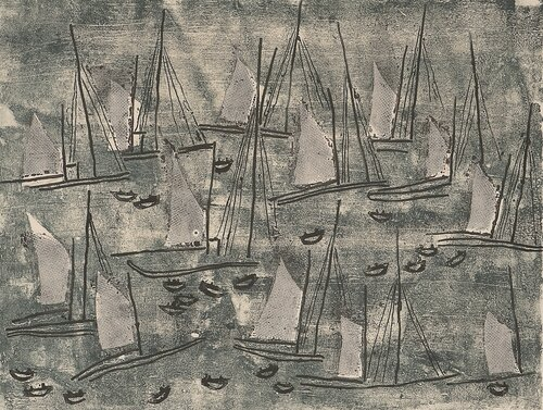 Fiskebåter i rolig sjø