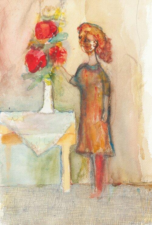 Jente i interiør 1960