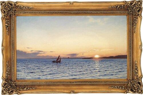 Seilbåt i solnedgang 1893