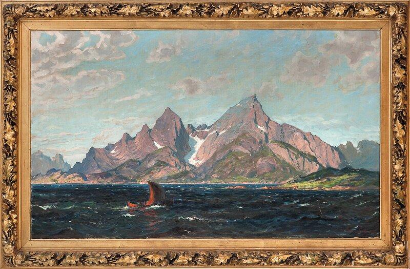 Nordlandsbåt i frisk bris 1900