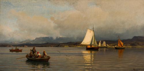 Fra Christianiafjorden 1876