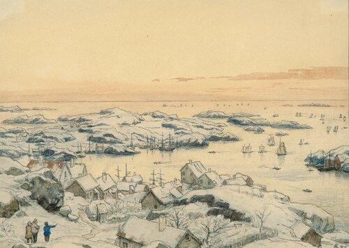Vinter i Loshavn ved Farsund 1875