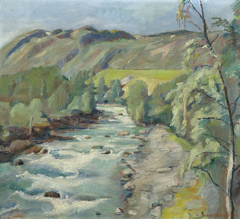 Bøvra i Lom 1931