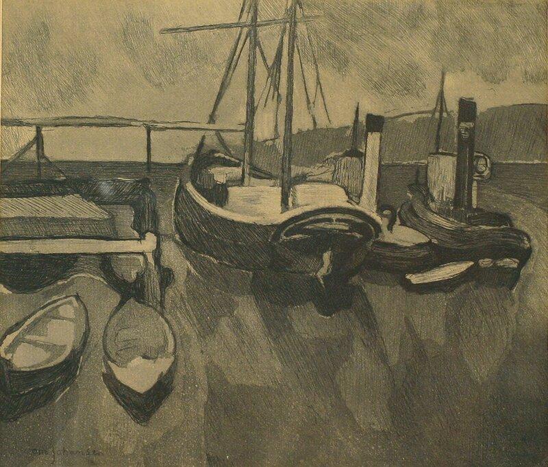 Båter i havn 1913