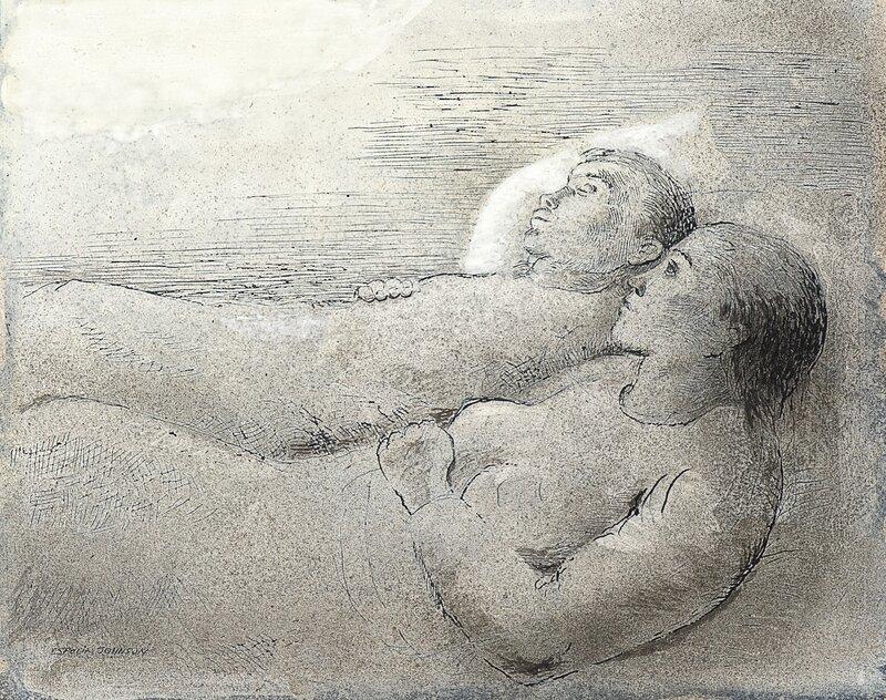 Mann og kone, hvilende