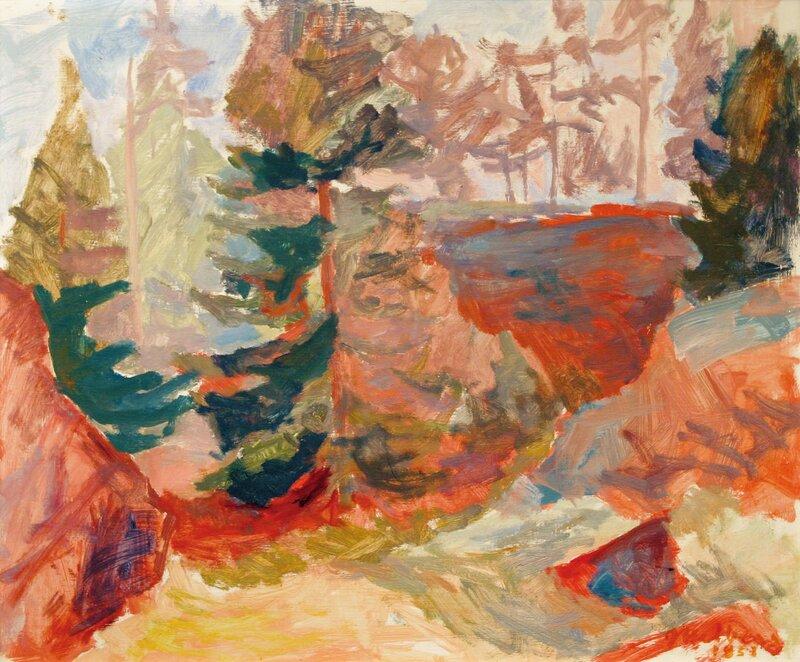Skog i sommerlys 1958